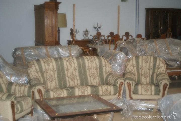 TRESILLO (1 SOFÁ + 2 SILLONES) (Antigüedades - Muebles Antiguos - Sofás Antiguos)