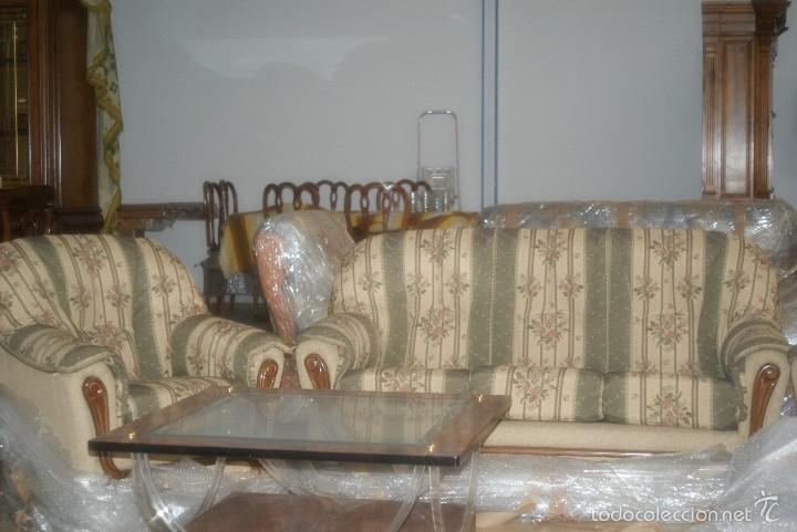 Antigüedades: Tresillo (1 sofá + 2 sillones) - Foto 2 - 58175607