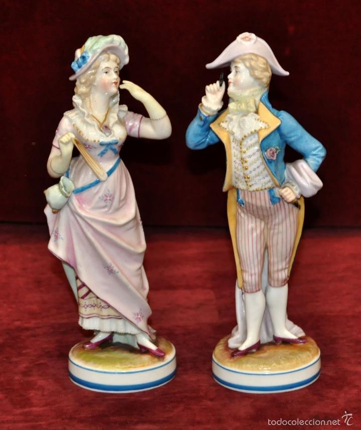 Pareja de figuras en porcelana alemana de princ comprar for Marcas de porcelana