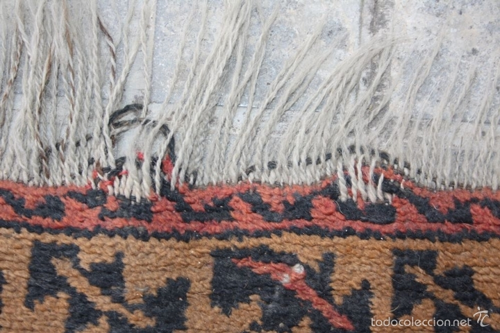 Antigüedades: ALFOMBRA DE ORACIÓN. LANA ANUDADA A MANO. BELOUCH. ORIENTE MEDIO. PRINCIPIO XX. - Foto 6 - 58181264