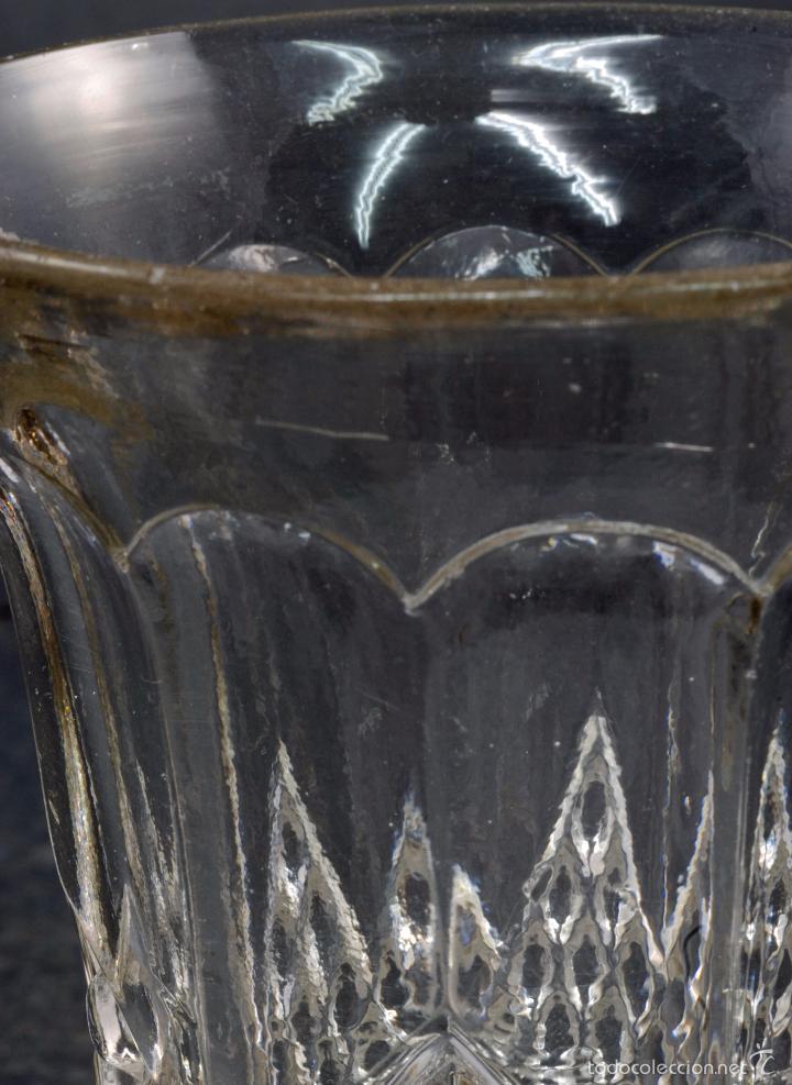 Antigüedades: Copa cristal La Granja PP XX - Foto 4 - 58182056