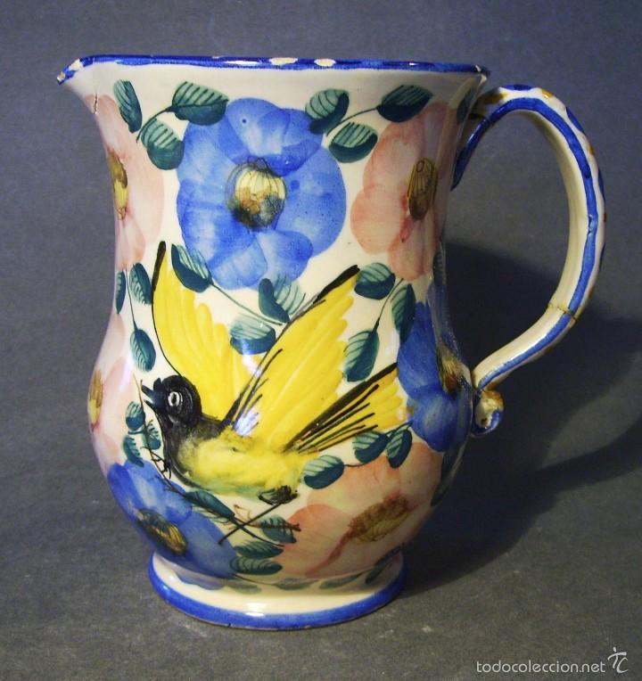JARRA CERÁMICA DE FAITANAR XIX (Antigüedades - Porcelanas y Cerámicas - Otras)