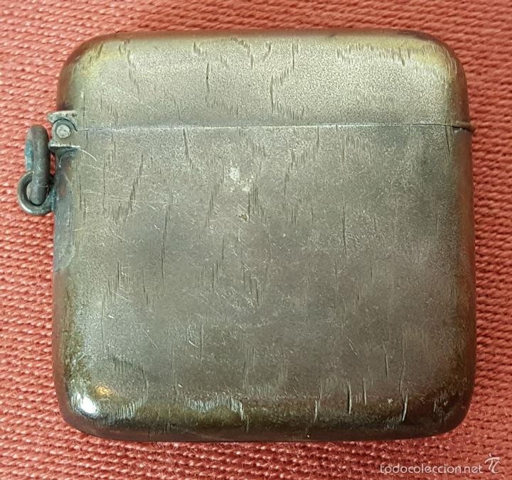 FUNDA PARA MECHERO EN PLATA. CIRCA 1950. (Antigüedades - Platería - Plata de Ley Antigua)