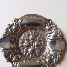 Antigüedades: CENICERO DE ALPACA CONTRASTADA, BAÑO DE PLATA.. Lote 58196298