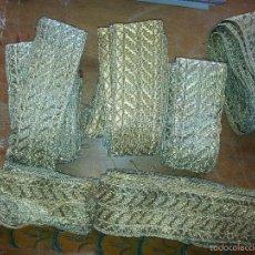 Antigüedades: LOTE GALON MAS DE 15 METROS GALONES ANTIGUOS PARA CASULLA DALMATICA PAÑO ALTAR VIRGEN SEMANA SANTA. Lote 58198134