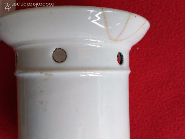 Antigüedades: ANTIGUA TETERA DE PORCELANA CON INFIERNILLO - Foto 3 - 58199370