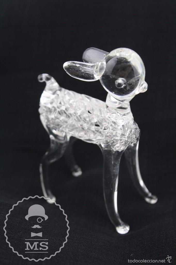 BONITO CORDERITO DE CRISTAL TIPO MURANO - ARTESANAL - MEDIDAS 5 X 3,5 X 7,5 CM (Antigüedades - Cristal y Vidrio - Murano)