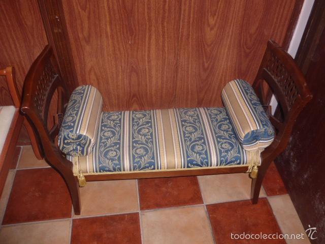 Sillon de dos plazas de madera tapizado y con comprar sillones antiguos en todocoleccion - Sillon dos plazas ...
