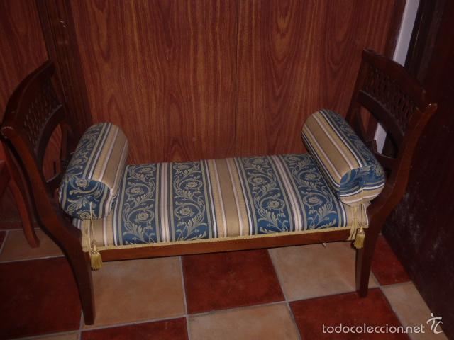 Sillon de dos plazas de madera tapizado y con comprar - Sillon para dormitorio ...