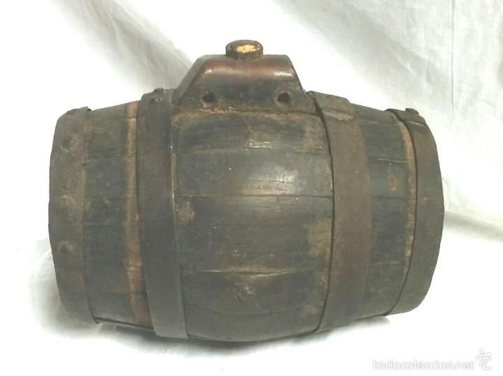 TONEL BARRICA PASTOR. MED. 21 CM ALTURA (Antigüedades - Técnicas - Rústicas - Ganadería)