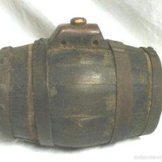 Antigüedades: TONEL BARRICA PASTOR. MED. 21 CM ALTURA. Lote 58203400