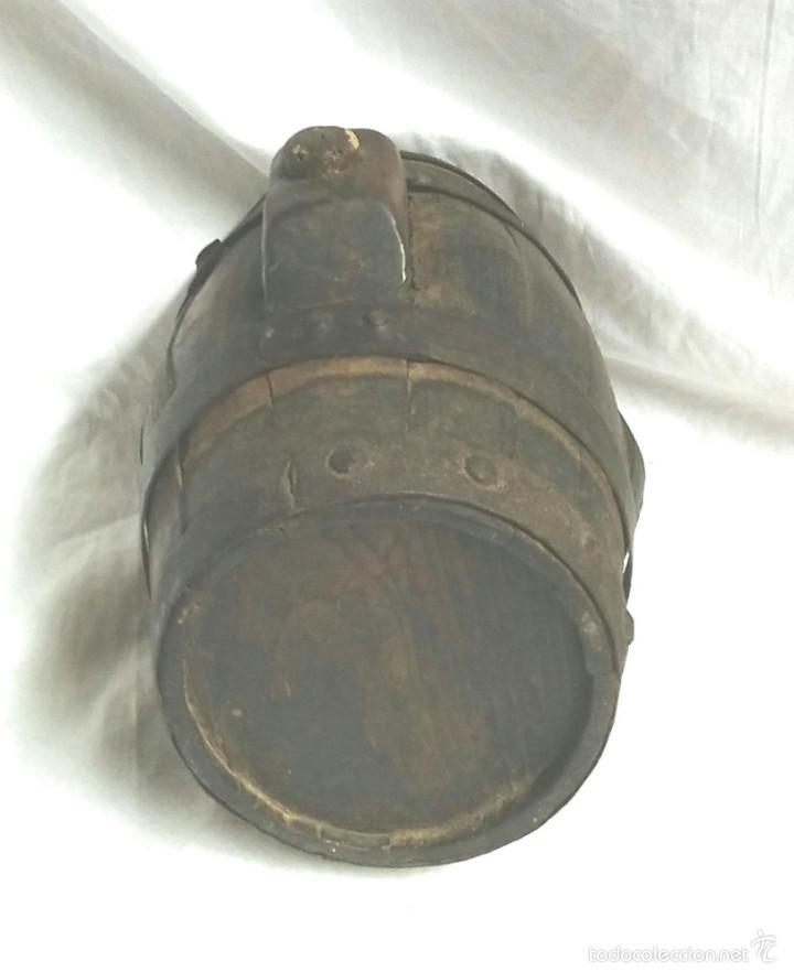 Antigüedades: Tonel barrica pastor. Med. 21 cm altura - Foto 2 - 58203400