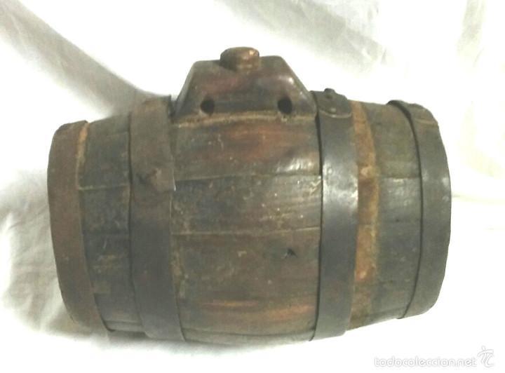 Antigüedades: Tonel barrica pastor. Med. 21 cm altura - Foto 3 - 58203400