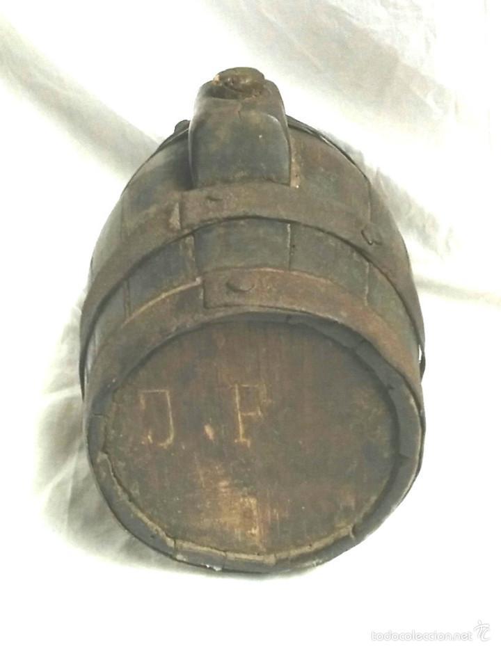Antigüedades: Tonel barrica pastor. Med. 21 cm altura - Foto 4 - 58203400