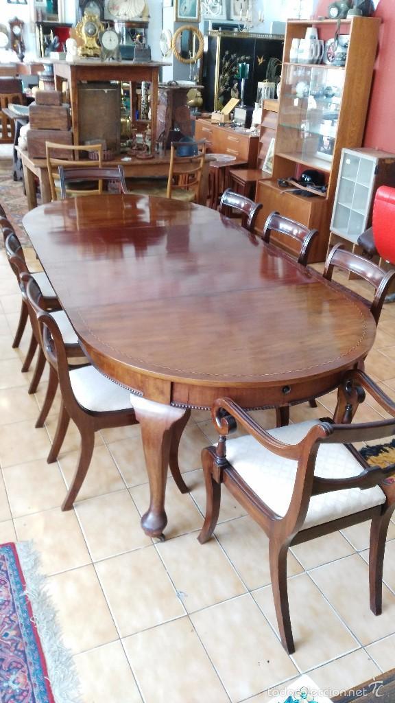 mesa extensible de caoba victoriano mitad s.xix - Comprar Mesas ...