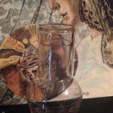 Antigüedades: JARRA Y VASO ANTIGUO CRISTAL DE LA GRANJA.. Lote 58221565