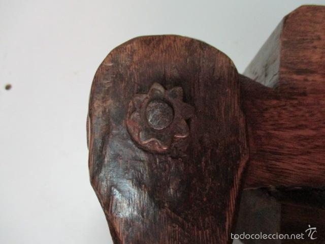 Antigüedades: Muy antigua caja SALERO de madera. (ver fotos) - Foto 4 - 64226171