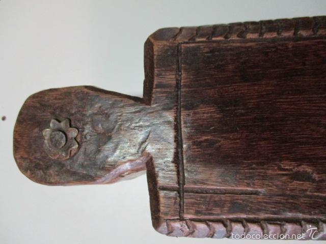 Antigüedades: Muy antigua caja SALERO de madera. (ver fotos) - Foto 5 - 64226171