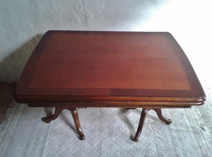 Antigüedades: elegante mesa de salón. Mesa inglesa, mesa antigua, mesa auxiliar, mesa salón comedor - Foto 2 - 58230397
