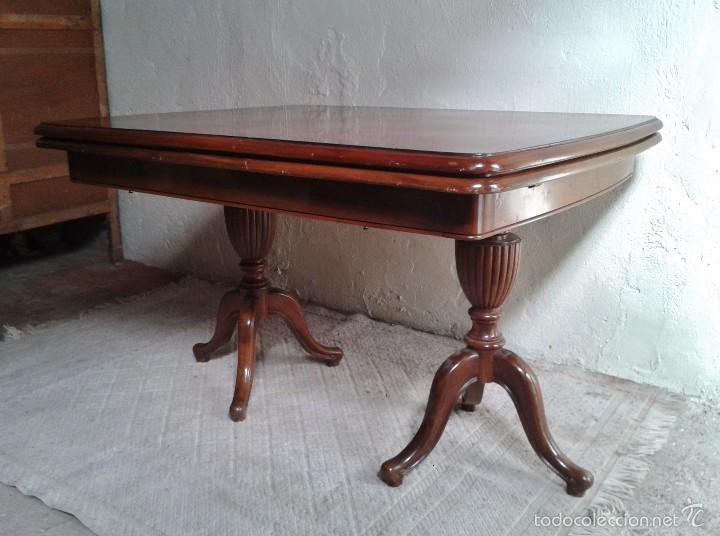 Antigüedades: elegante mesa de salón. Mesa inglesa, mesa antigua, mesa auxiliar, mesa salón comedor - Foto 3 - 58230397