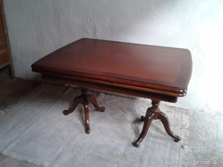 Antigüedades: elegante mesa de salón. Mesa inglesa, mesa antigua, mesa auxiliar, mesa salón comedor - Foto 8 - 58230397