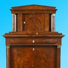 Antigüedades: ESPECTACULAR SECRETER BIEDERMAIER CON INFLUENCIA IMPERIO CIRCA 1820(PRECISA REPASO). Lote 58244766