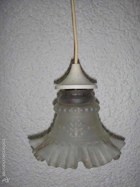 Lampara o plafon de techo cristal opaco comprar - Lamparas cristal antiguas ...