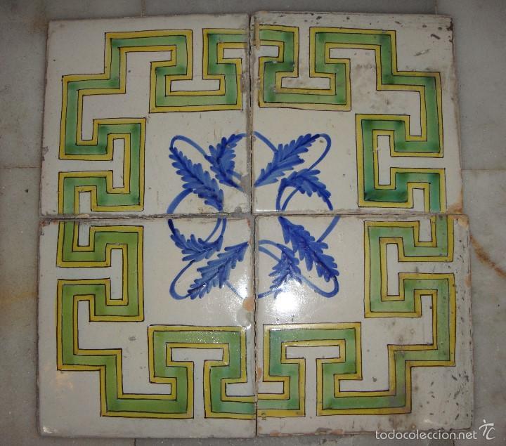 AZULEJOS MANISES, SEGUNDA MITAD SIGLO XVIII (Antigüedades - Porcelanas y Cerámicas - Manises)