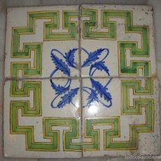 Antigüedades: AZULEJOS MANISES, SEGUNDA MITAD SIGLO XVIII. Lote 58248282