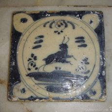Antigüedades: AZULEJO DE TRIANA. S.XVIII. TAURINO. SERIE MONOCROMA.. Lote 58248350