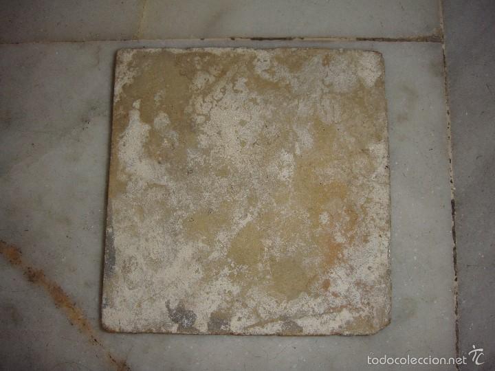 Antigüedades: Azulejo de Triana. S.XVIII. Motivo Oriental. Serie Monocroma. - Foto 2 - 58248390