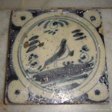 Antigüedades: AZULEJO DE TRIANA. S.XVIII. PAJARITO. SERIE MONOCROMA.. Lote 58248438