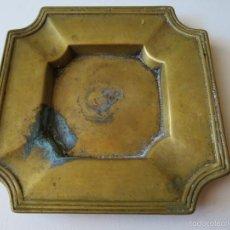 Antigüedades: CENICERO ANTIGUO DE BRONCE. Lote 58248878
