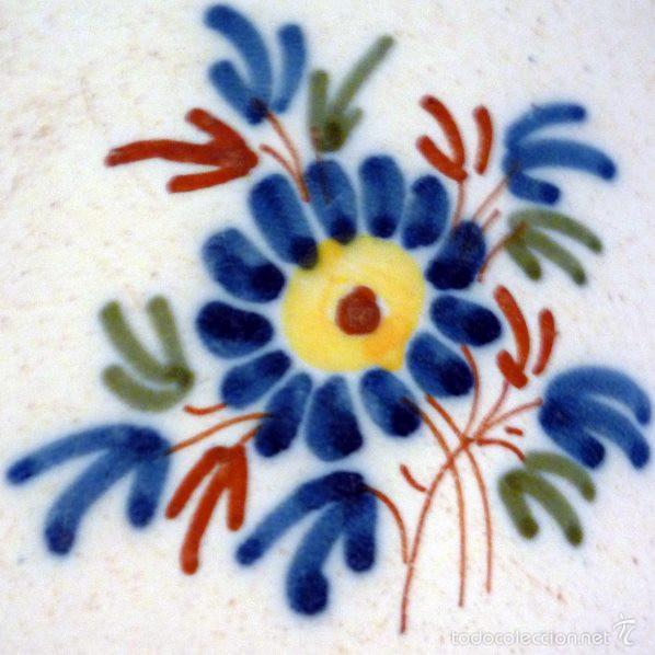 Antigüedades: PLATO DE ALCORA. SERIE DEL RAMITO. S XVIII - XIX. FIRMADO - Foto 2 - 58249679