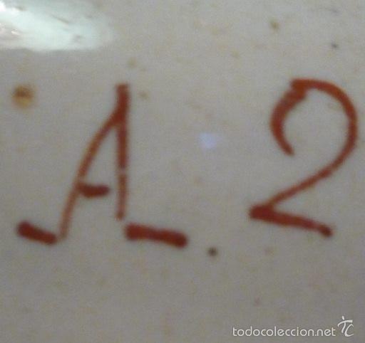 Antigüedades: PLATO DE ALCORA. SERIE DEL RAMITO. S XVIII - XIX. FIRMADO - Foto 6 - 58249679