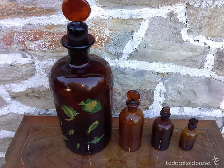 FRASCOS LABORATORIO (Antigüedades - Cristal y Vidrio - Farmacia )