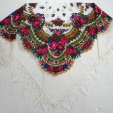 Antigüedades: PAÑUELO DE LANA ESTAMPADO. Lote 58255798