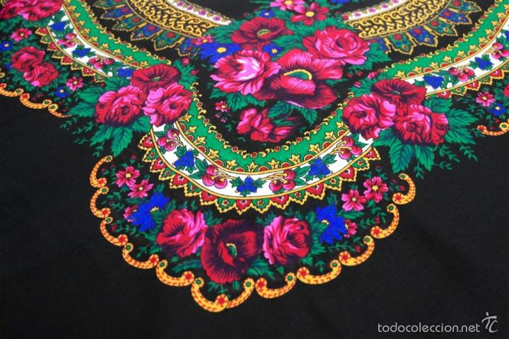 Antigüedades: Pañuelo de lana estampado - Foto 3 - 58256368