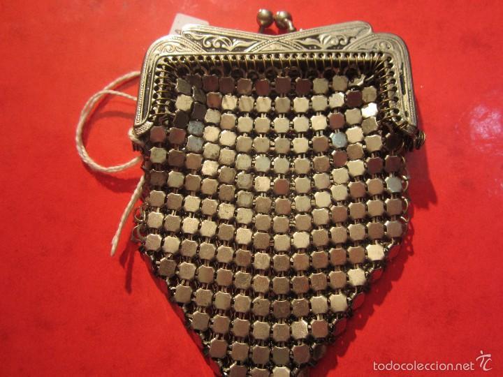 MONEDERO ANTIGUO DE ALPACA (Antigüedades - Moda - Bolsos Antiguos)