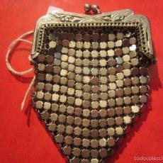 Antigüedades: MONEDERO ANTIGUO DE ALPACA. Lote 58257710
