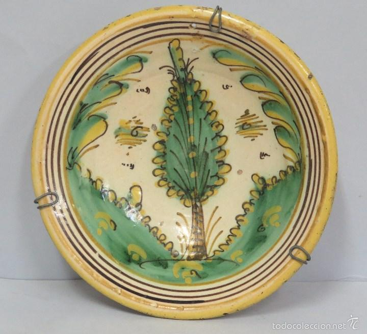 ANTIGUO PLATO DE PUENTE DEL ARZOBISPO. SERIE PINO. SIGLO XVIII (Antigüedades - Porcelanas y Cerámicas - Puente del Arzobispo )