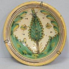 Antigüedades: ANTIGUO PLATO DE PUENTE DEL ARZOBISPO. SERIE PINO. SIGLO XVIII. Lote 58266369