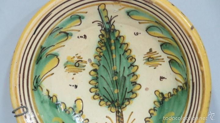 Antigüedades: ANTIGUO PLATO DE PUENTE DEL ARZOBISPO. SERIE PINO. SIGLO XVIII - Foto 2 - 58266369
