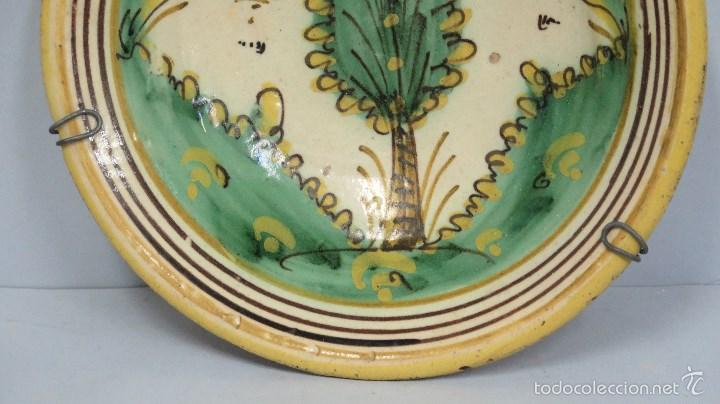 Antigüedades: ANTIGUO PLATO DE PUENTE DEL ARZOBISPO. SERIE PINO. SIGLO XVIII - Foto 3 - 58266369