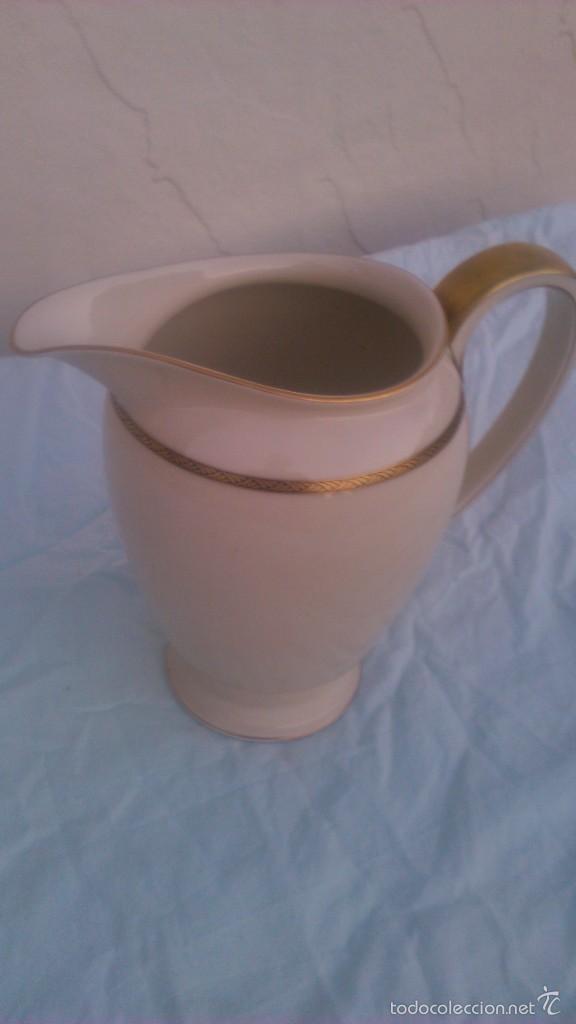 Antigüedades: Preciosa jarra de porcelana de la prestigiosa marca rosenthal. selb-germany.winifred.con oro 18 k - Foto 2 - 58266520