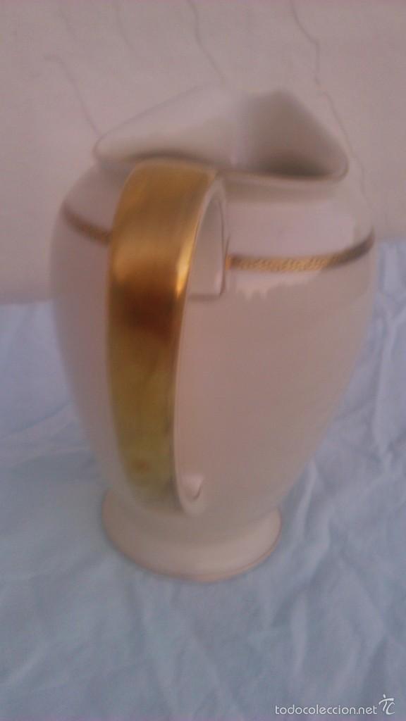 Antigüedades: Preciosa jarra de porcelana de la prestigiosa marca rosenthal. selb-germany.winifred.con oro 18 k - Foto 4 - 58266520
