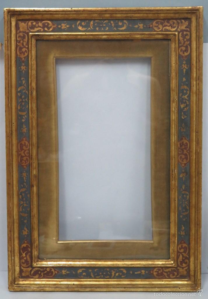 antiguo y gran marco de hijos de cano de madera - Comprar Marcos ...
