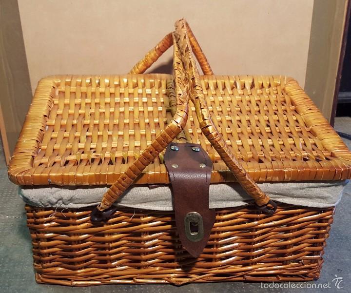 Antigüedades: cesta de merienda - Foto 3 - 58268879