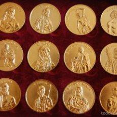Antigüedades: MEDALLAS JESUCRISTO APOSTOLES Y ULTIMOS 12 PAPAS. Lote 58269344