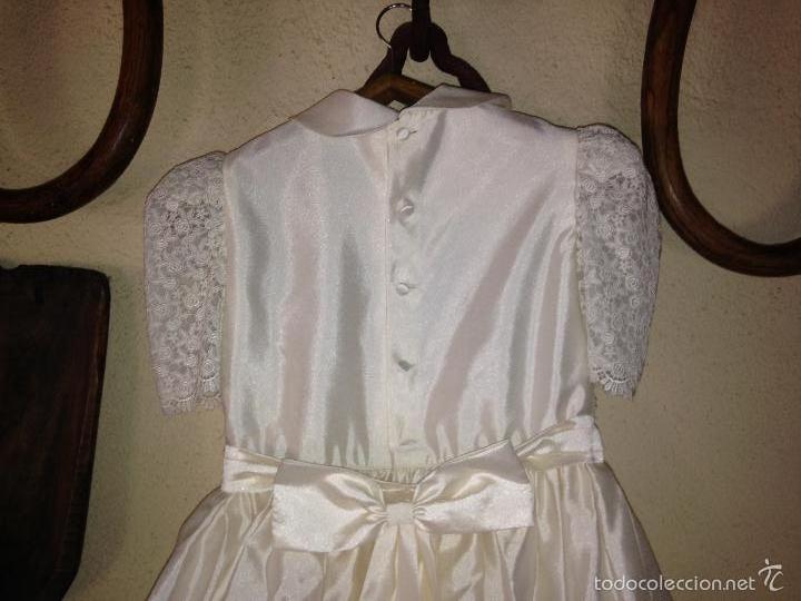 Antigüedades: vestido de primera comunión o de dama de boda pamela, tocado guantes limosnera y can can - Foto 8 - 58271204